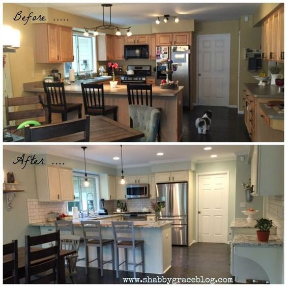casa colonica cucina makeover, decorazioni per la casa, cucina di design, pittura, pittura armadi
