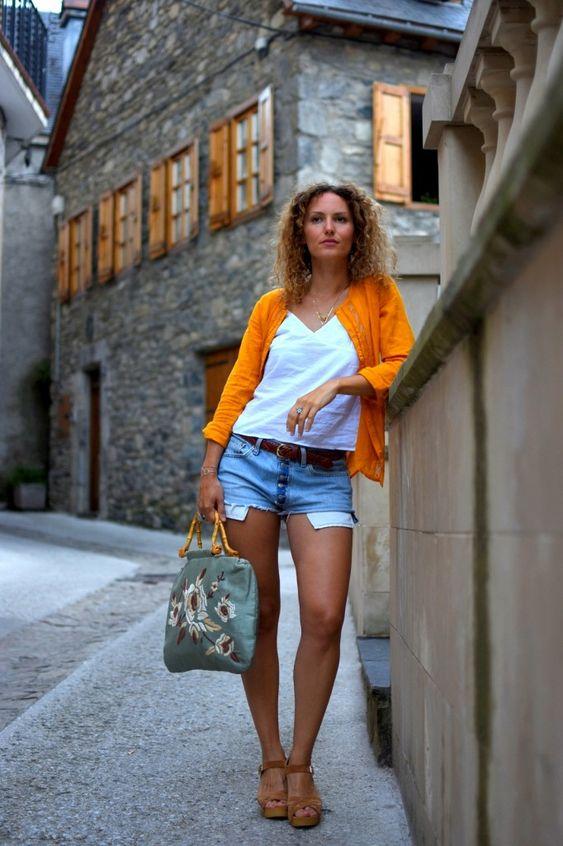 Look d'été chemise jaune et short levi's vintage  - Rock my Casbah