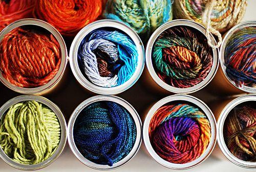 Coffee can yarn organization