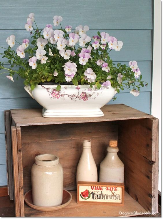 repurpose vintage tureen as planter. Dagmar's Home, DagmarBleasdale.com #vintage #thrifting #antiques #cottage #decor #DIY #repurpose