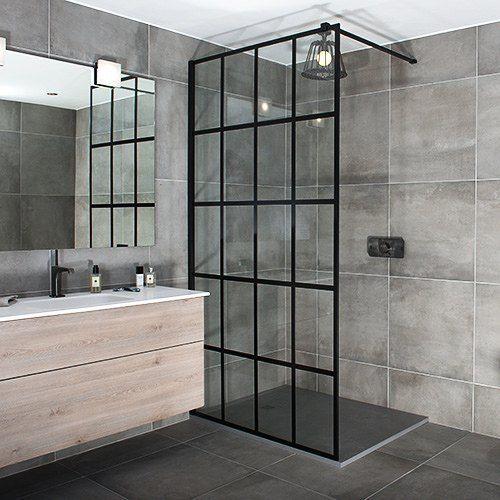 I Like The Black Shower Tray And Crittal Glass Shower Shower Enclosure Loft Bathroom Black Shower Tray