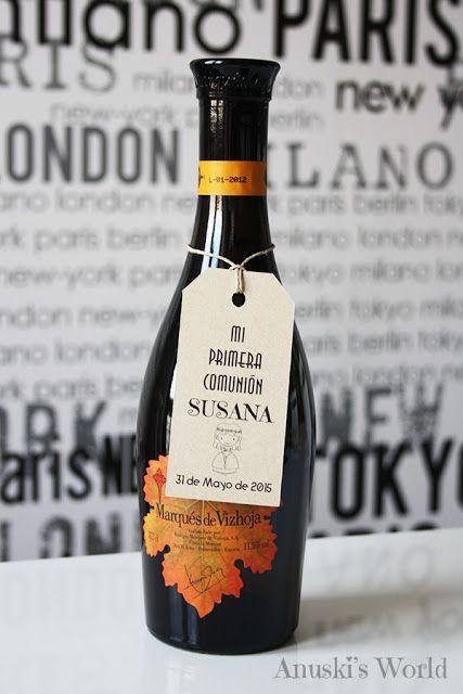 Etiquetas kraft personalizadas para botellas de vino - Anuski´s World