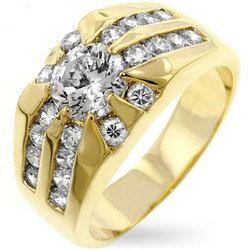 Cubic Zirconia Sunrise Ring