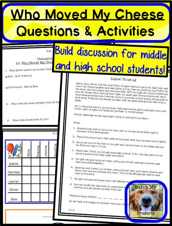 Who Moved My Cheese Questions Distance Learning Or Printables Writing Prompts For Kids Book Study Activities Reading Comprehension Lessons Who moved my cheese worksheet