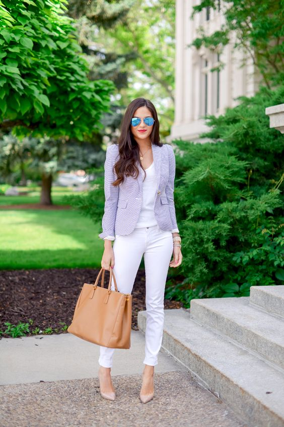 Polished… - Pink Peonies by Rach Parcellwhite jean, white tee, colored jacket or denim