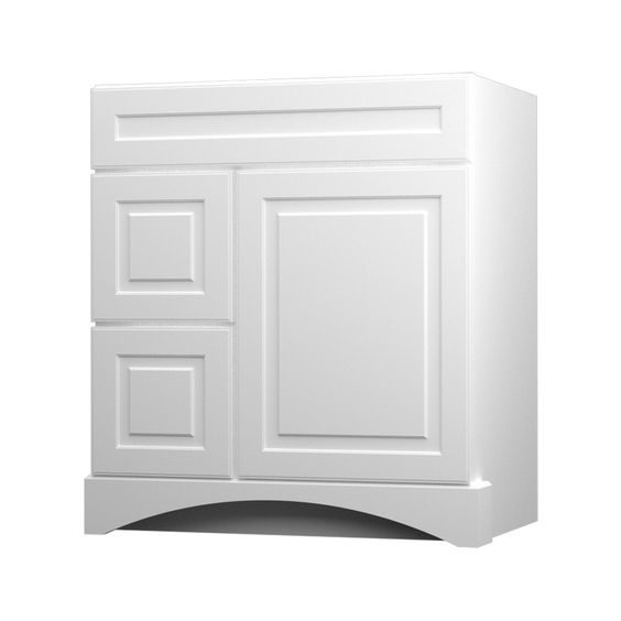 Kraftmaid summerfield north bay white casual bathroom vanity common 30 in x 21 in actual 30 - Kraftmaid bathroom cabinets catalog ...