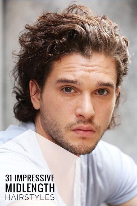 Mid length hair male