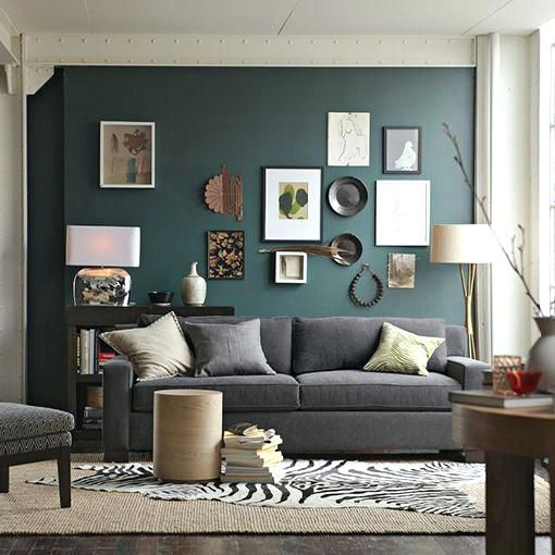 Red Accent Wall Living Room Simple Home Decoration Pro Accent