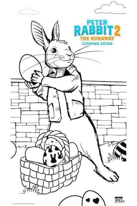 Free Printable Peter Rabbit 2 Easter Coloring Pages Activity Sheets Easter Coloring Pages Easter Colouring Peter Rabbit