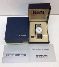 Seiko Quartz Analog Men's Watch 6923 Rail. Appr. Day & Date w/ Box & Ins. Manual