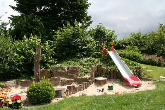 Sandspielbereich Kids Garden Play Area Backyard Garden Backyard