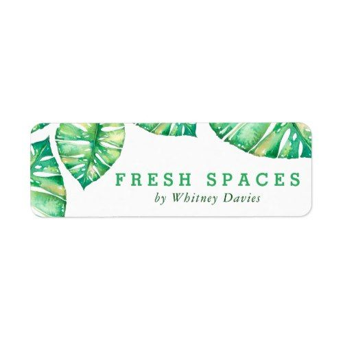 Return Address Tropical Watercolor Monstera Leaf Label Zazzle Com Monstera Monstera Leaf Labels