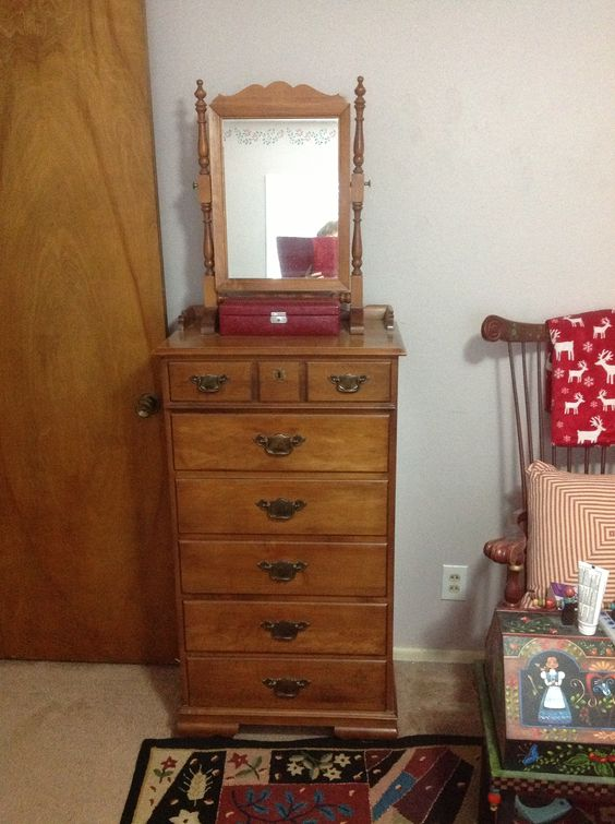 Tell City Lingerie Chest And Makeup Mirror My Tell City