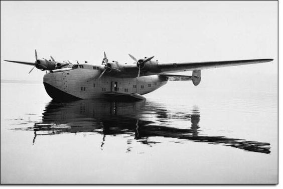China Clipper floating on the water.