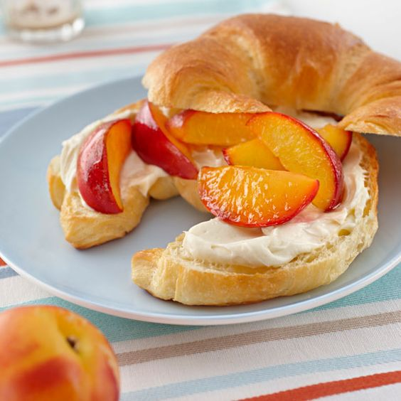 Honey PHILLY Croissants with Caramelized Nectarines: