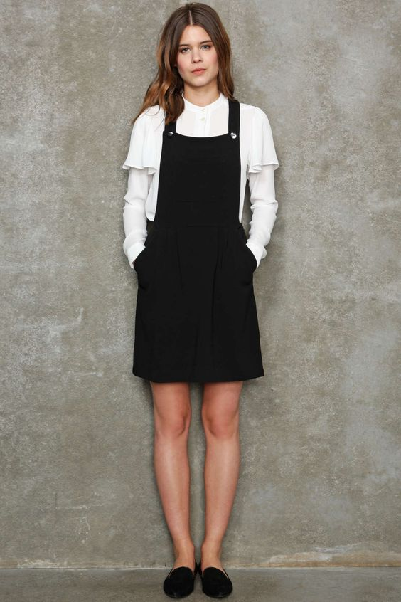Little White Pinafore Dress And Black Pinafore On Pinterest