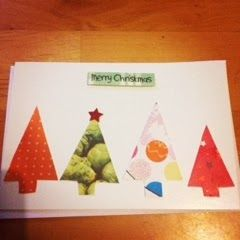 Glittered Pink: Handmade Christmas cards - handmade using recycled Christmas cards- love <3