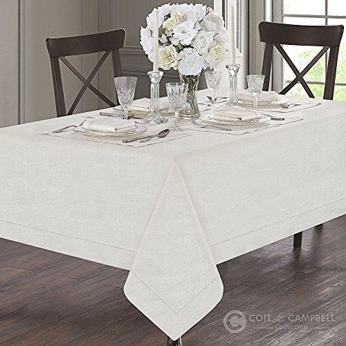 Coit Campbell 100 Cotton Luxury Designer Tablecloth Fossil Design With Hemstitch Single Border Royal Collection I Table Cloth Table Linens Home Decor
