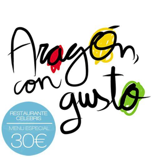 Aragón con gusto, nace con el objetivo de promocionar la gastronomía aragonesa. Con este fin, el Restaurante Celebris ha preparado para la ocasión una propuesta muy especial, que podrás probar entre el 24 de Octubre al 9 de Noviembre.