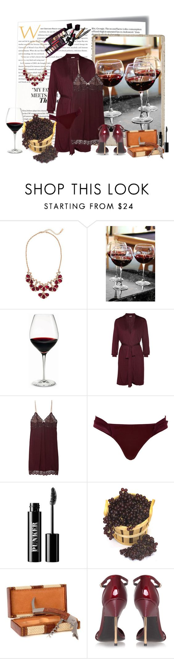 """Best Wine"" by theroyalcrime ❤ liked on Polyvore featuring Post-It, BaubleBar, Cathy's Concepts, Holmegaard, Eberjey, La Perla, Ardency Inn and Kurt Geiger"