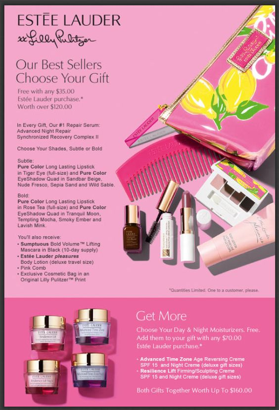 GWP at Dillards with Estee Lauder purchase of $35 or more. http ...