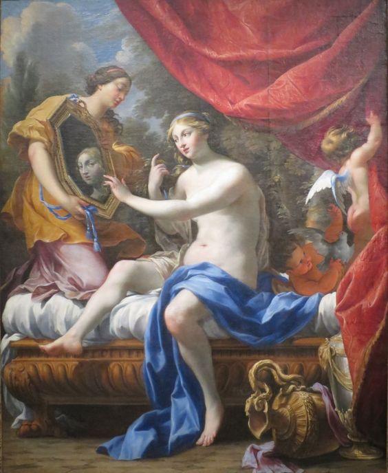Simon Vouet, Venus del espejo, 1628