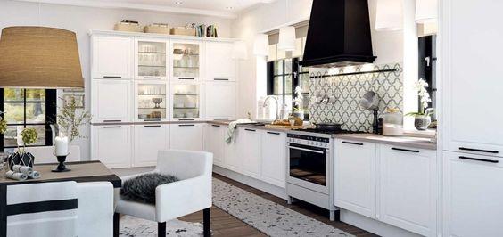 El romántico estilo nórdico en las cocinas - Cocinas con estilo