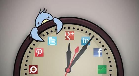 Horário das redes Sociais