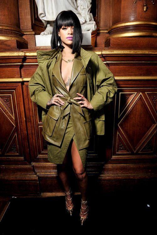 Rihanna at Balmain A/W 2014