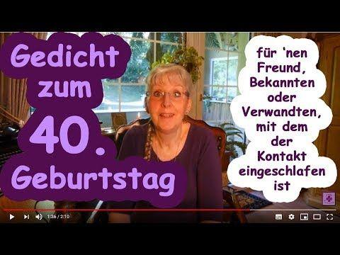 Fg265 Gedicht Zum 40 Geburtstag Fur Nen Freund Bekannten