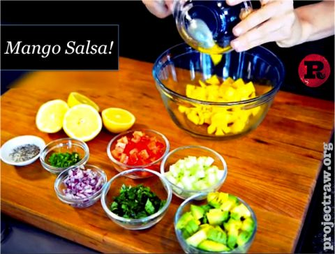 Mango Salsa! | Project Raw | Food!! | Pinterest | Mango Salsa, Salsa ...