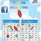 6 x 100 Most Used Words Snakes and Ladders Games7 page resource.Designed by Clever Classroom.One of our top sellers on our site, eBay s...