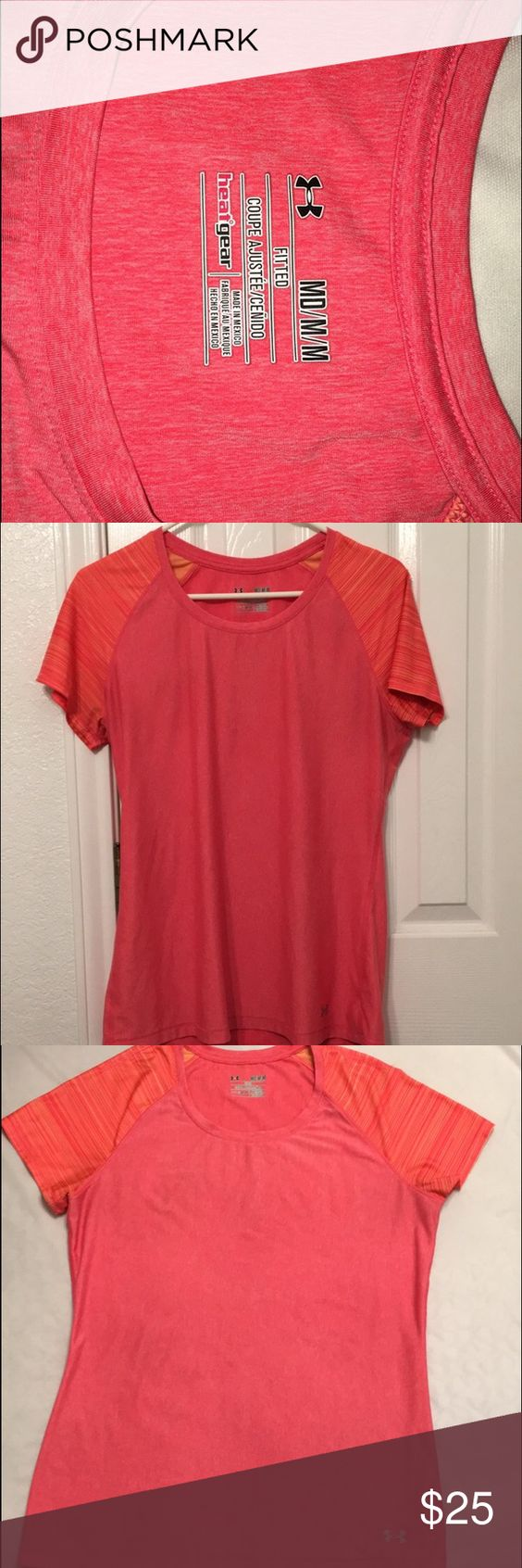 Orange Under Armour fitted shirt Under Armour fitted tshirt. Great condition Under Armour Tops Tees - Short Sleeve
