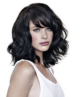 Medium Layered Haircut For Wavy Hair