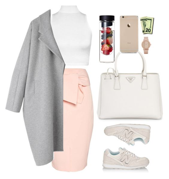 """""""All the riches baby, won't mean anything."""" by veronica-jasmine ❤ liked on Polyvore featuring Prada, New Balance, ALDO, Topshop, WearAll and MM6 Maison Margiela"""