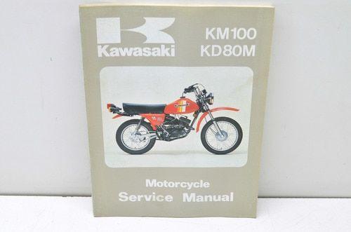 Oem Kawasaki 99924 1012 05 Service Manual Kd80m Km100a Manual Kawasaki Vintage Motorcycle