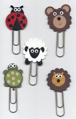 Stampin Up! Punch Art Bookmarks  (these would be cute as an atachment gift on birthday cards)