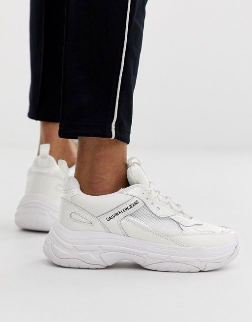 entire collection temperament shoes wholesale Calvin Klein Marvin chunky sneakers in white in 2019 | White ...