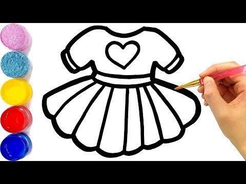 Cara Menggambar Dan Mewarnai Gaun Pelangi Glitter Rainbow Dresses Coloring And Drawing For Kids Youtube Drawing For Kids Rainbow Rainbow Dress