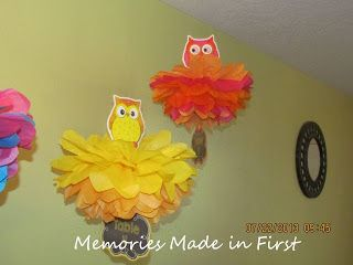 Memories Made in First: Tissue Paper Poms Tutorial