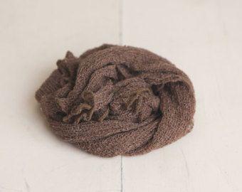 SALE Cream Neutral Newborn Stretch Knit Baby Wrap by ekplovelies