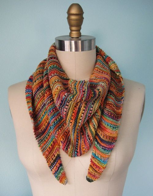 Knitted Scarf Patterns Using Sock Yarn : Beautiful, Yarns and Ravelry on Pinterest
