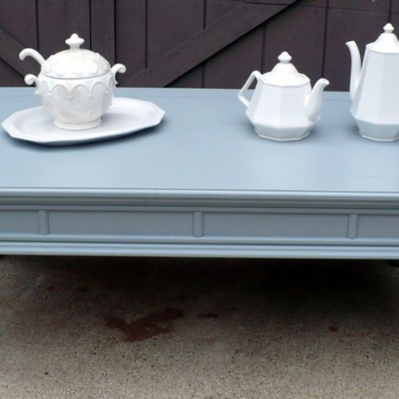 Coffee Table, Freshly Painted Gray, In Great Condition from Julies Box for $120.00 on Square Market