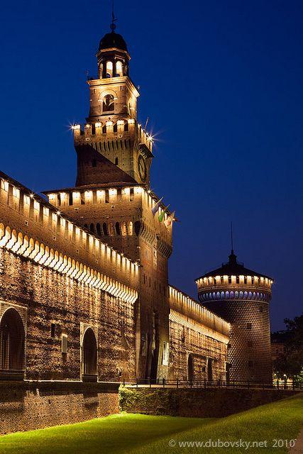 Castillo Sforzesco, Milán, Italia