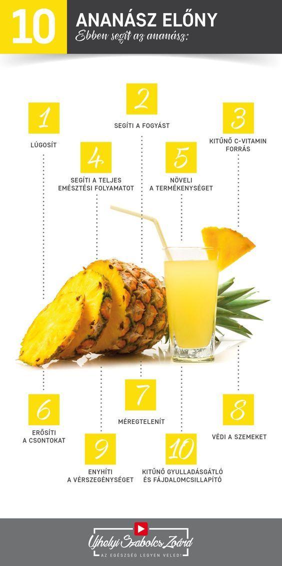 az ananász, mint egy fogyókúra