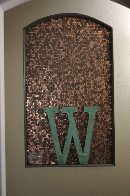 Penny wall pennies and alcove on pinterest for How to make a penny wall
