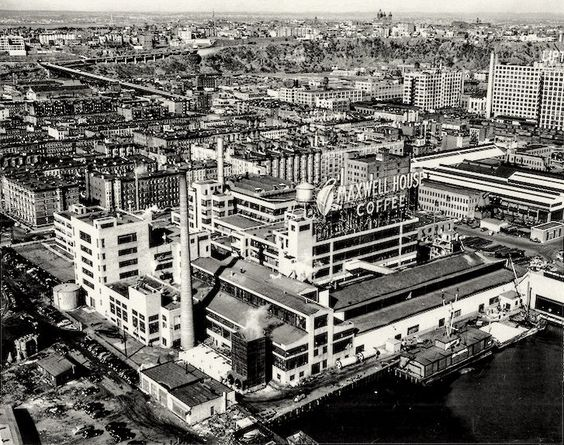 Maxwell House plant in Hoboken.    It closed in 1990. It was replaced with the Maxwell Place condos.
