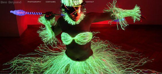 Beyo Beyond #costume design, #photography, blacklight #artist