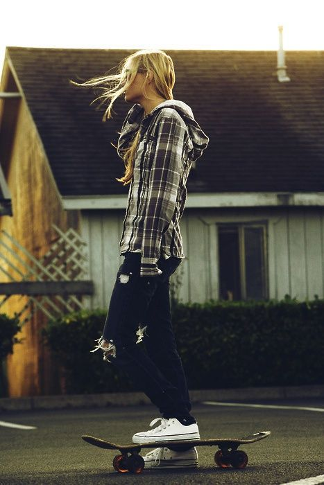 Plaid, ripped jeans, and Chucks - stuff I wish I could pull off without feeling like a poser.