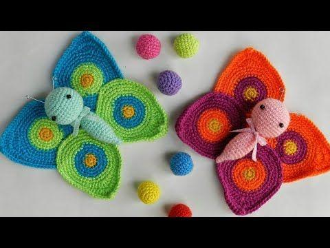 Set Of 7 handmade crochet Butterflies